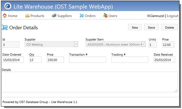 Lite Warehouse - website software